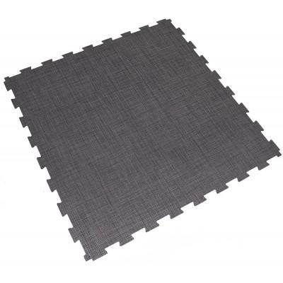 Fitnessvloer groot-formaat kliktegel donker-grijs
