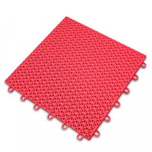 Sportvloer-Kliktegel-rood