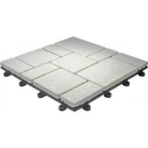 Terrastegel-toplaag natuursteen Kwarts wit