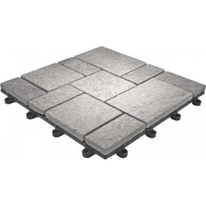 Balkontegel-toplaag natuursteen Kwarts grijs