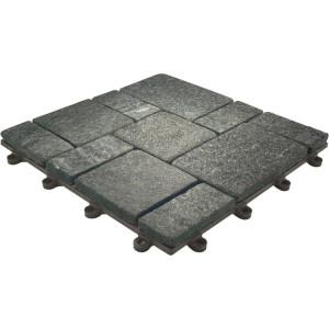 Terrastegel-toplaag natuursteen Kwarts zwart