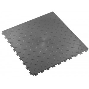 Kliktegel traanplaatstructuur BoSuza 7 mm grijs