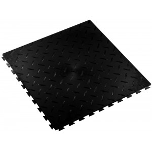 Kliktegel traanplaatstructuur BoSuza 7 mm zwart