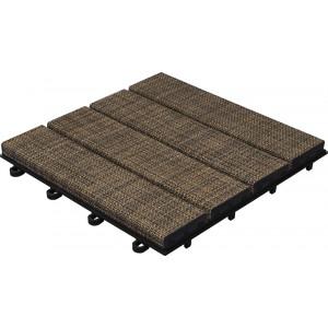 Terrastegel-toplaag geweven vinyl-Kleur: bruin