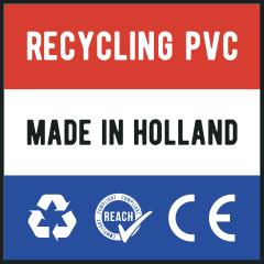 geproduceerd in Nederland uit recycling kunststofvolgens de REACH en CE-normeringen.