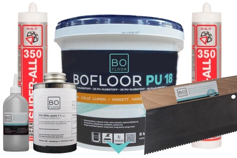hulpmaterialen voor pvc vloeren