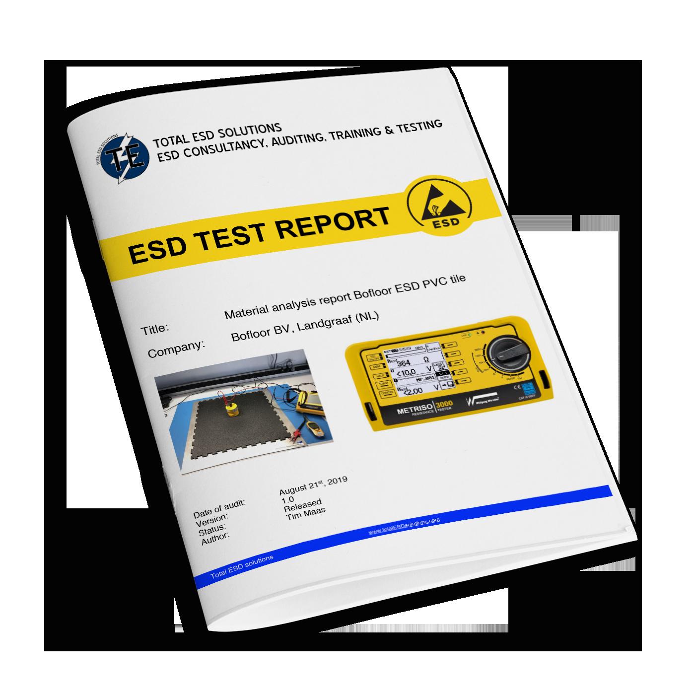 ESD vloeren Testrapporten ESD waarden