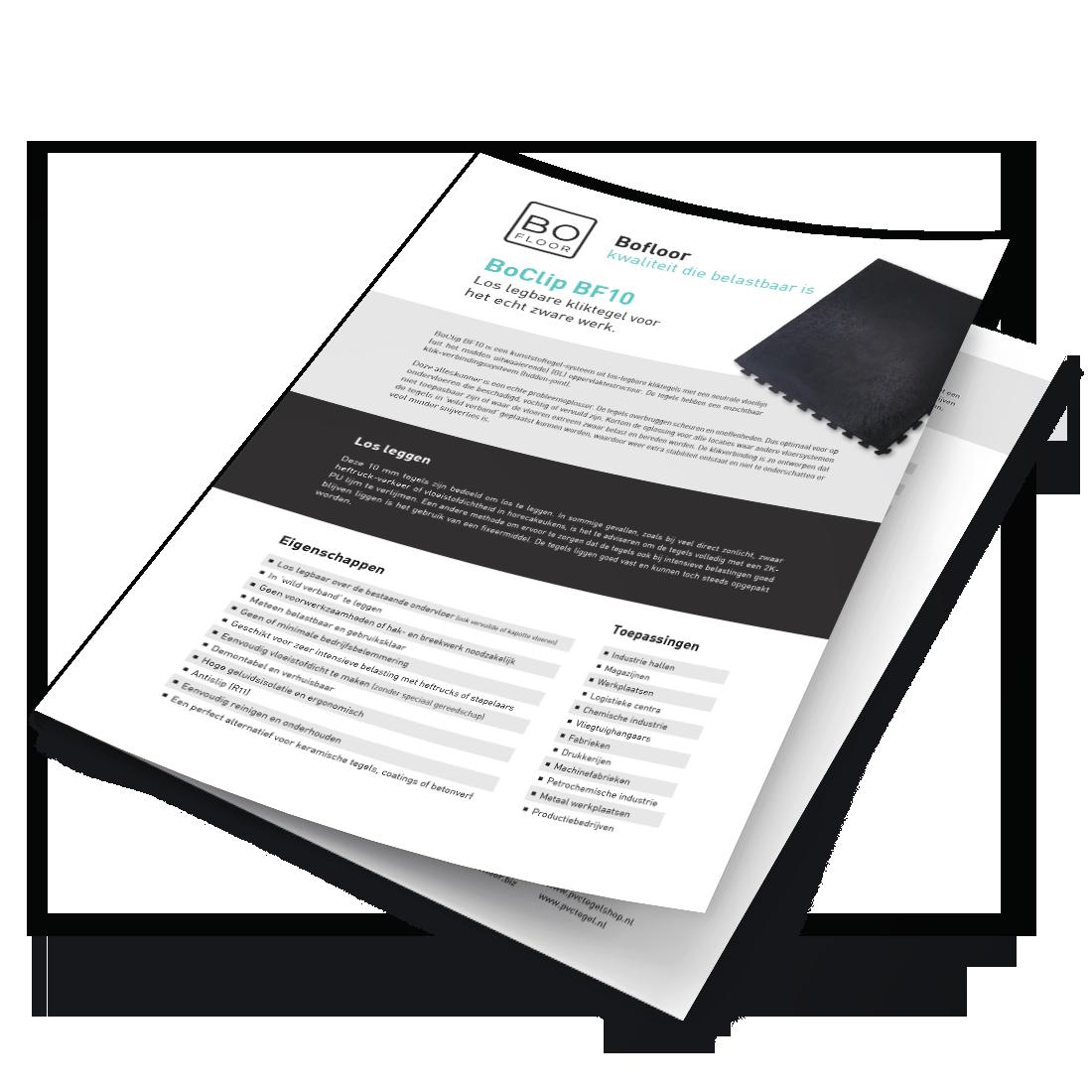 Datasheet BoClipBF10-werkplaatsvloer